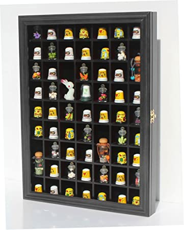Amazon 59 opening souvenir thimble small miniature display 59 opening souvenir thimble small miniature display case cabinet rack holder glass door eventshaper