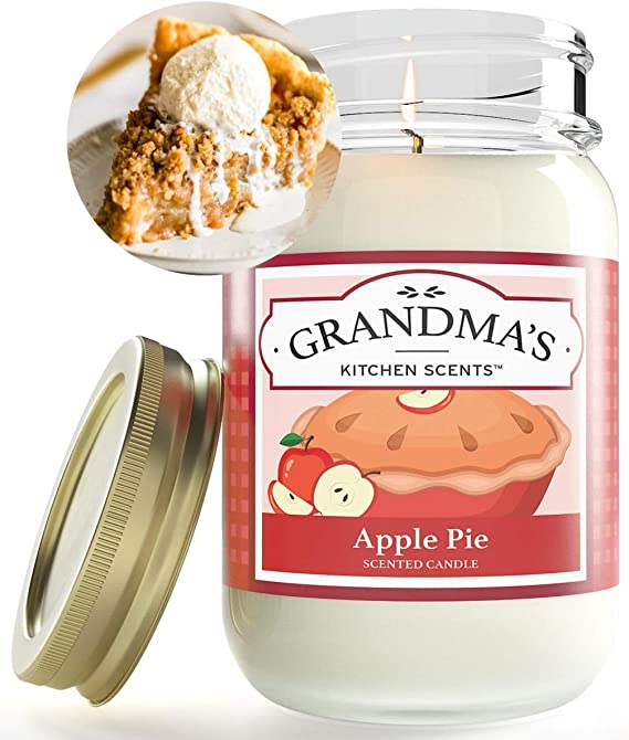 40hour GREEN GRANNY SMITH APPLES Strong Scented Natural /& Organic SOY Jar Candle