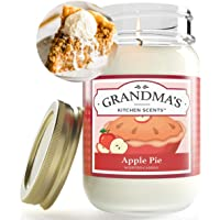 Apple Pie Mason Jar Candle | Soy Highly Scented Candle | Delicious Smelling | Extra Clean Burning and Long Lasting…