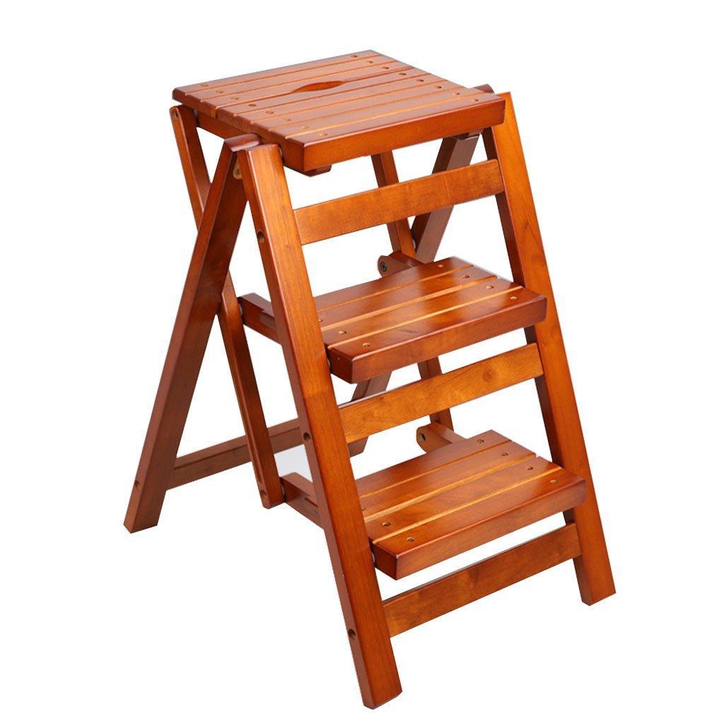 木製ステップスツール家庭用多機能折りたたみラダースツール/オフィスラダーストレージレトロ創造ラダースツール屋内登山ラダースツール家庭用棚 (Color : Brown, Size : 91*42.5*55.5cm) B07GR81XT6 Brown 91*42.5*55.5cm