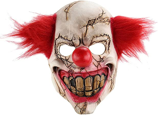 Maschera It Pagliaccio.Aaa226 Maschera Intera Da Viso Da Pagliaccio Spaventoso In Latex Per Halloween Feste A Tema O In Maschera