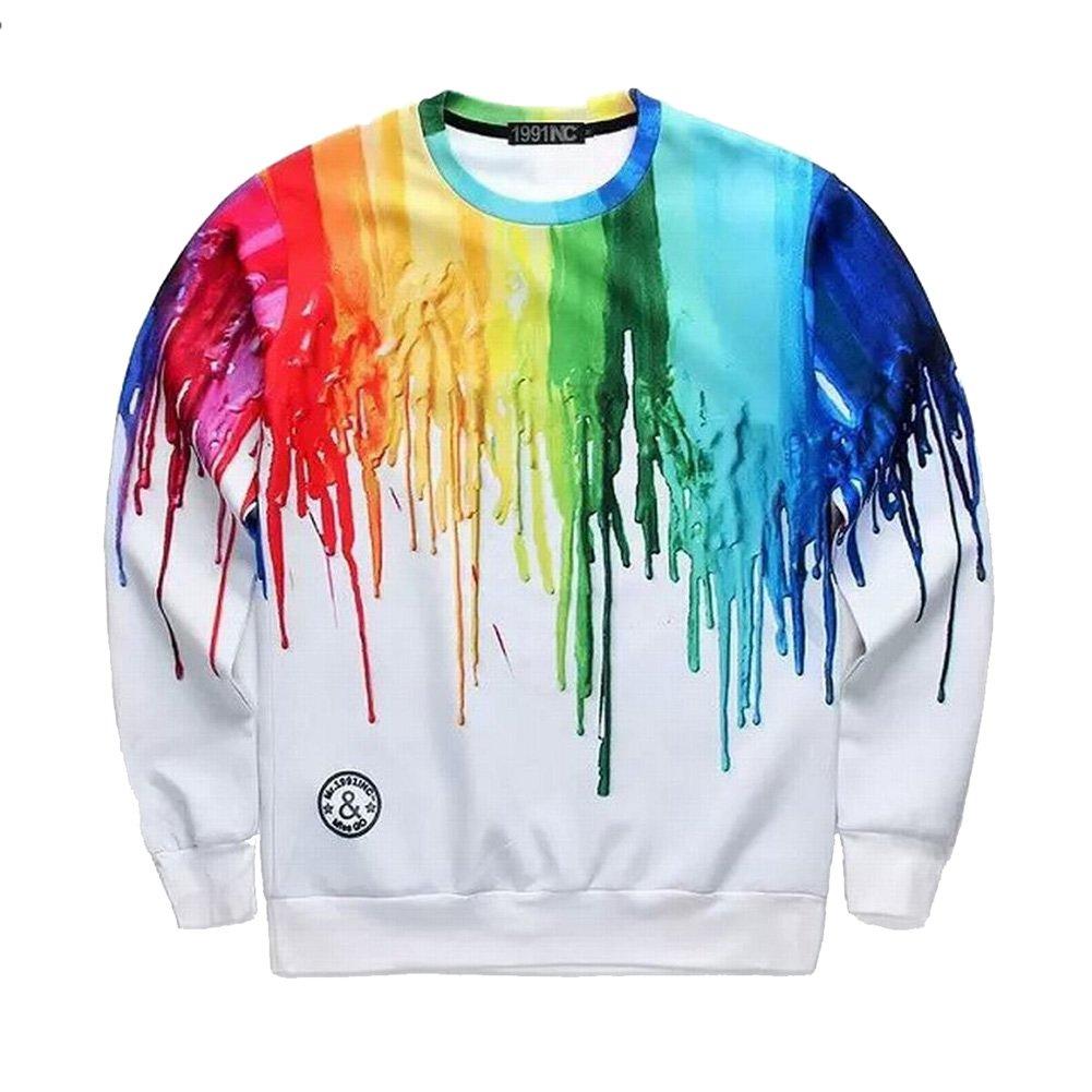 Big Boys 3D Graphic Print Emoji Crew Neck Long Sleeve Shirt Pullover Sweatshirt