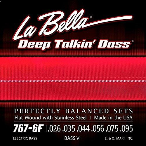 La Bella 767-6F Bass VI Strings - Flatwound ()