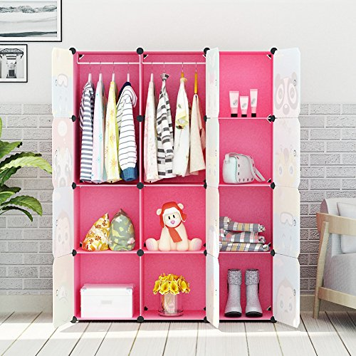 Portable Clothes Closet Wardrobe By KOUSI Freestanding Cute