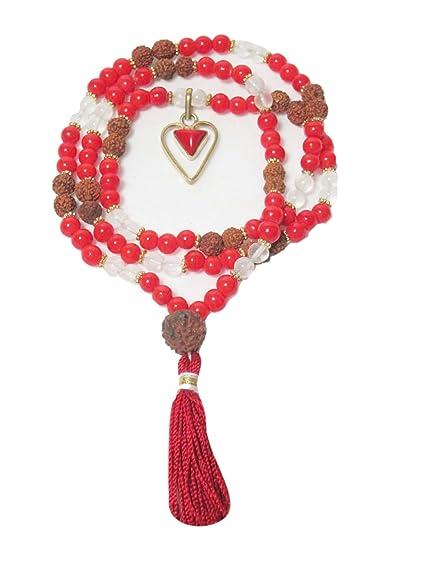 Amazon.com: Mogul Interior Yoga Mala Beads Rudraksha Red ...