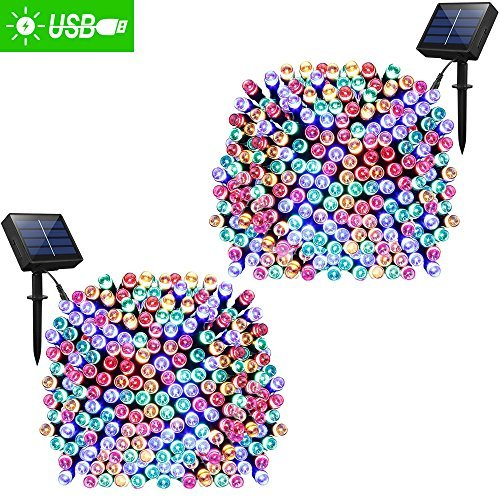 61my1gXIVUL - ADDLON Solar Lights Outdoor 72ft 200 LED Fairy Lights, Ambiance lights for Patio, Lawn,Garden, Home, Wedding, Holiday, Christmas, Xmas Tree decoration,waterproof/Timer/USB Charge