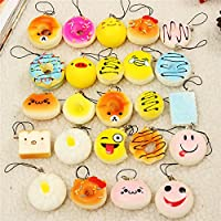 New 12PCS Jumbo Mini Squishy Bread Scented Panda Toast Donuts Cone Humbarger Turtle By KTOY