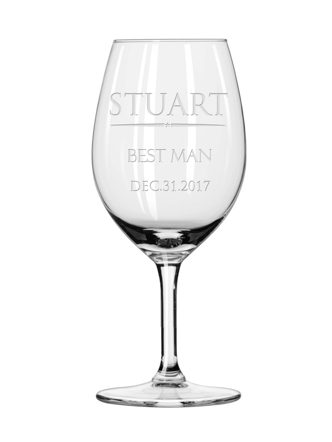 Amazon.com: Best man wine glass, Personalized Engraved Wine Glass ...