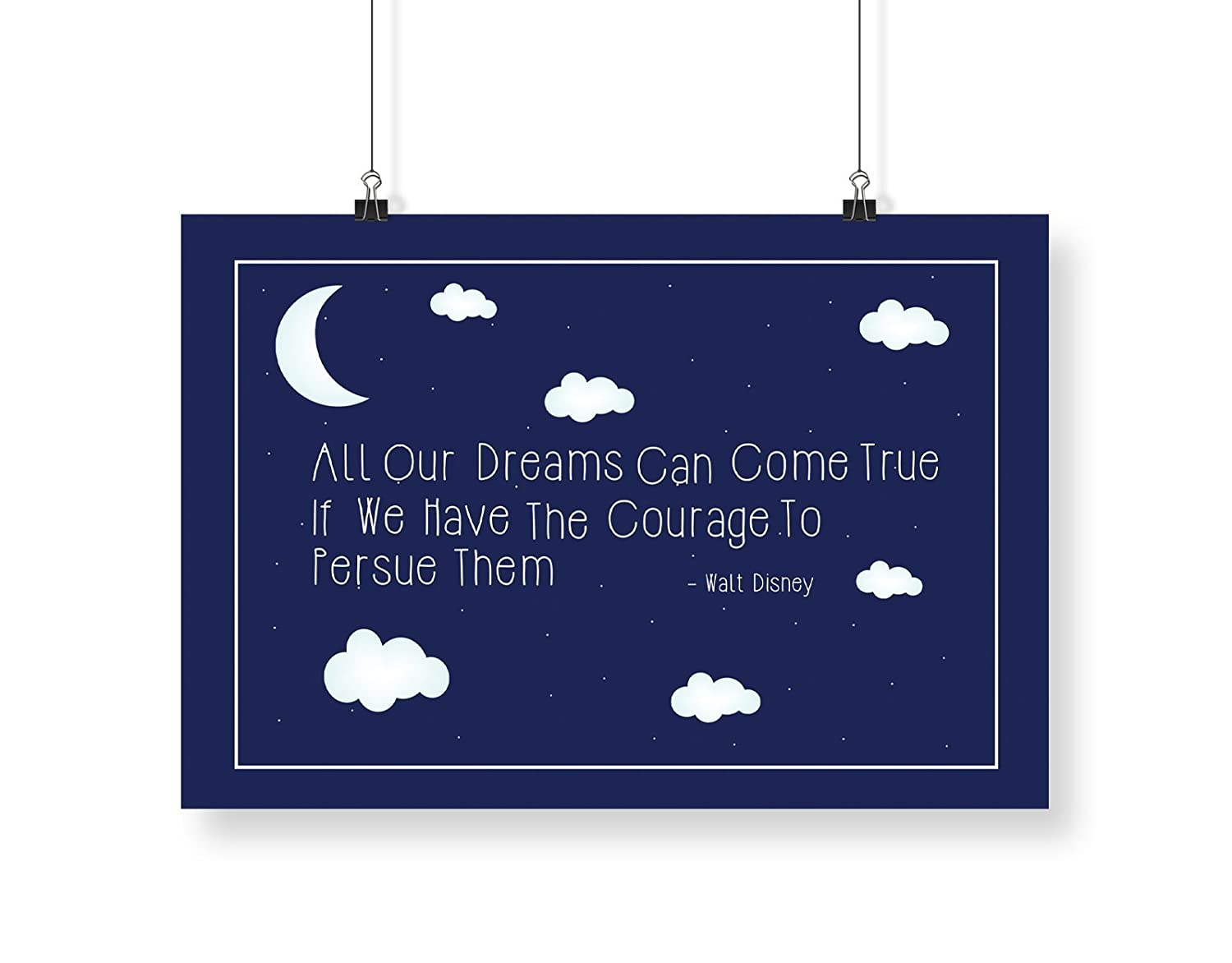 Walt Disney – All Our Dreams Can Come True A4 digital kunst drucken ...