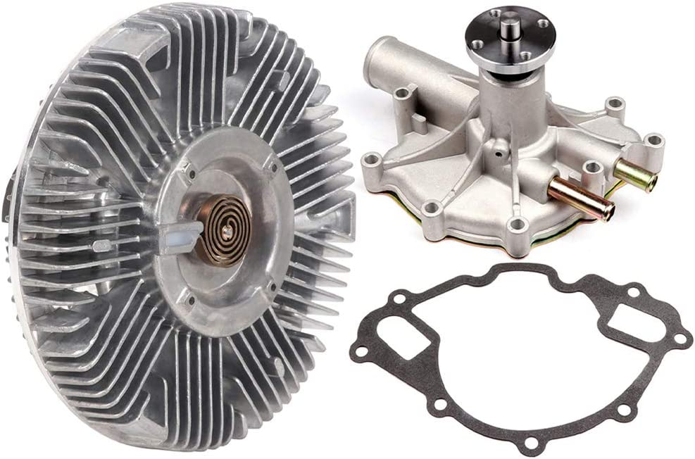 INEEDUP Engine Cooling Fan Clutch Water Pump Kit replacement for PW254 1987-1996 ford Bronco E-150 Econoline E-150 5.0L 4.9L