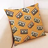 Weiliru Letter Pattern Decorative Throw Pillow Covers Cotton Linen Square Cushion Covers Outdoor Couch Sofa Home Pillow Covers 18×18 Inch