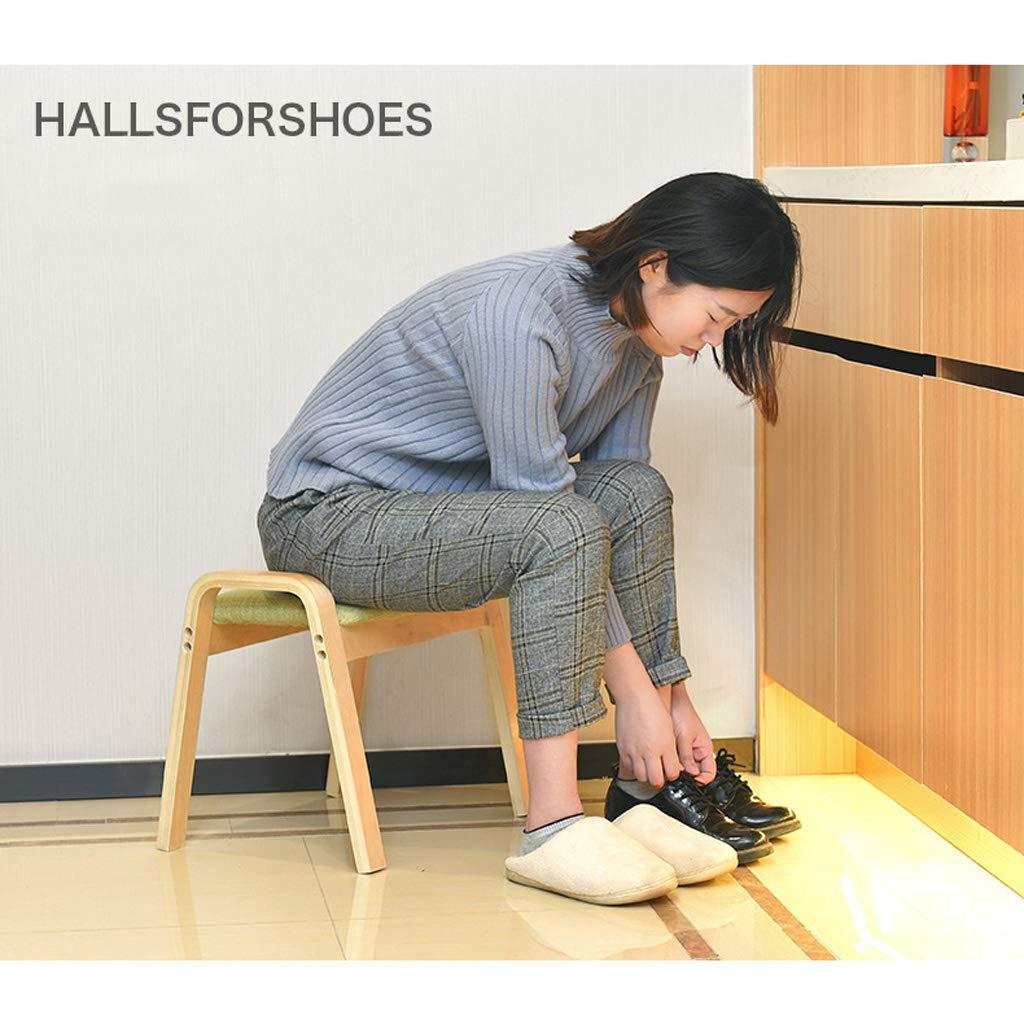 Taburetes Inicio Cambio Moda Zapatos Moda Cambio Sala de Estar Creativa Mesa de Centro Sofá pie de Madera Maciza Cuadrada para Adultos Banco pequeño extraíble y Lavable c 27197e