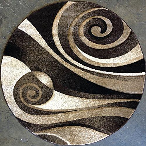 7' Round Contemporary Chocolate - 1