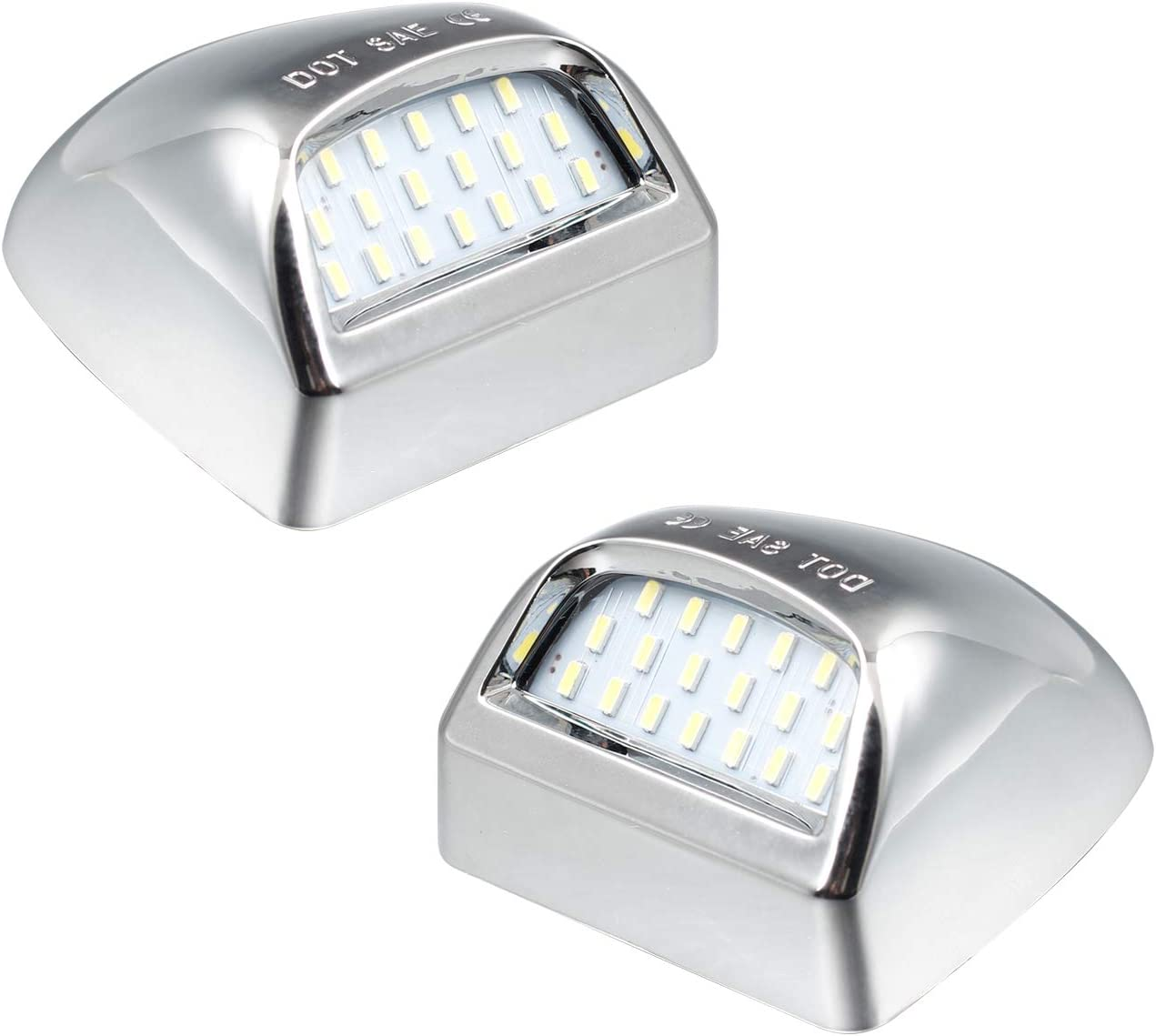 6000K White RUXIFEY LED License Plate Light Lamp Compatible with Chevy Silverado Suburban Tahoe GMC Sierra 1500 2500 3500 HD Escalade EXT Pack of 2