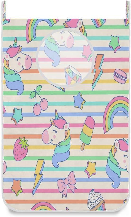 Bolsa de colada con diseño de unicornio, ideal para colgar, ideal para el baño, la universidad, el clóset, detrás de las puertas 20x29.5inx1 multicolor
