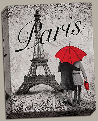 Strolling In Paris  A Beautiful 16X20in Size Eiffel Tower Stretched Canvas  Ready To Hang