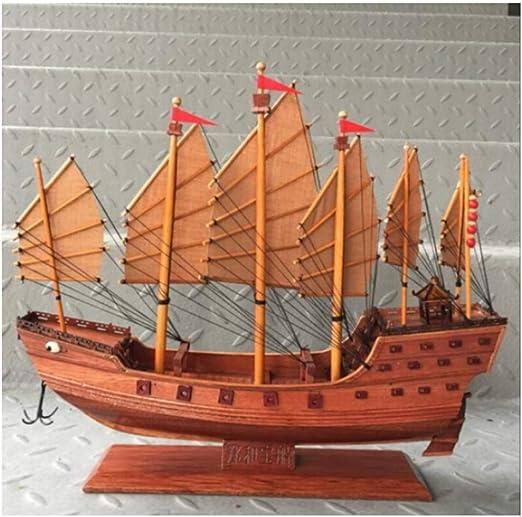 LYQZ Antiguo Barco mercante Modelo de Vela Colección Retro Regalo ...