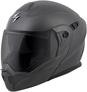ScorpionEXO Unisex-Adult Modular/Flip Up Adventure Touring Motorcycle Helmet (Anthracite, X-Large) (EXO-AT950 Solid)