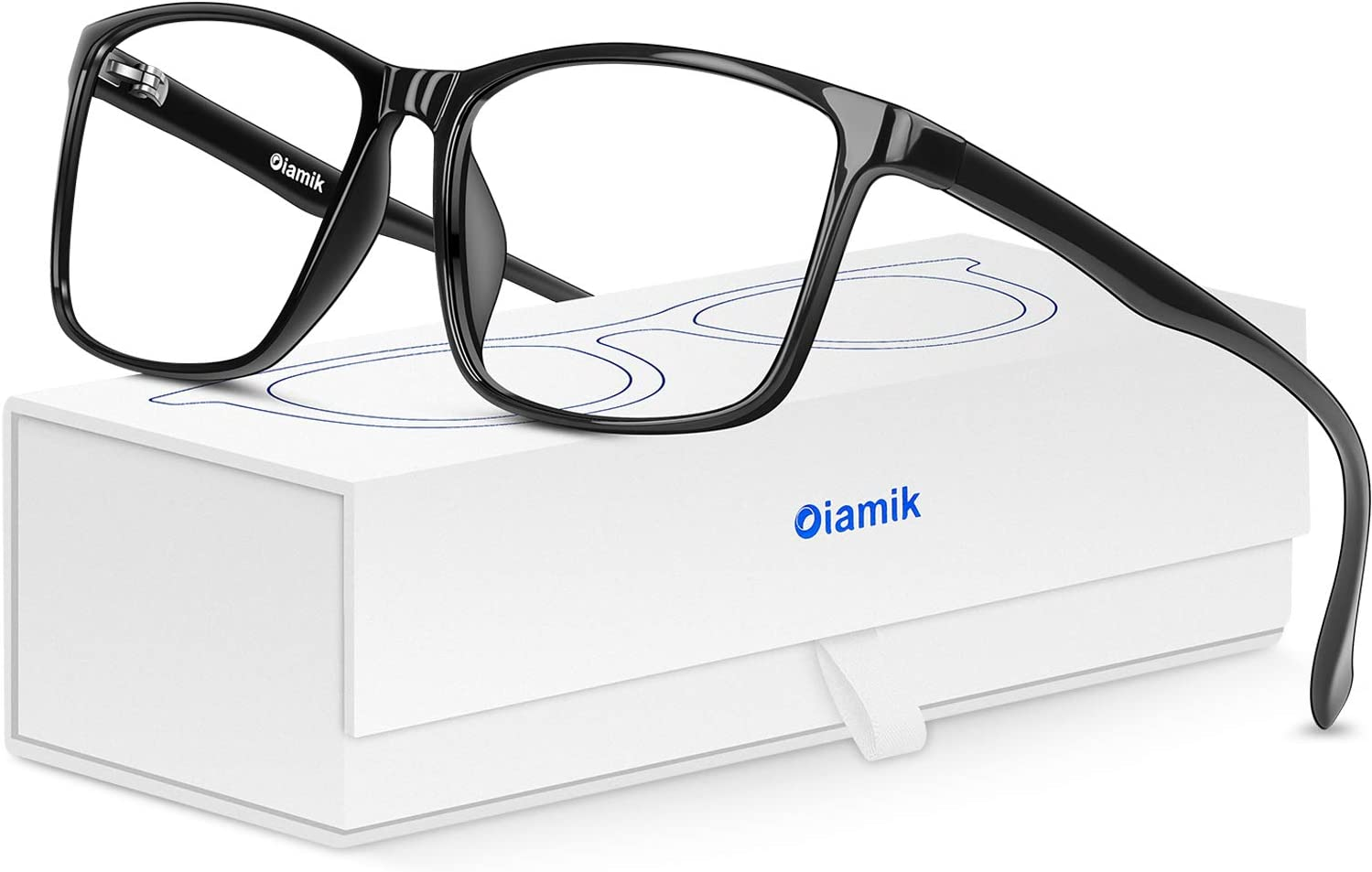 OIAMIK Blue Light Blocking Glasses Men Computer Glasses