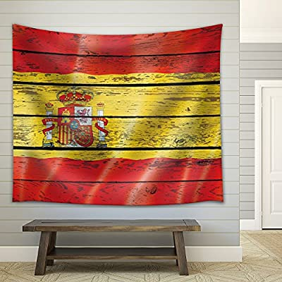 That You Will Love, Pretty Object of Art, Flag of Spain on a Wooden Background