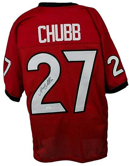 pretty nice 33e39 199e8 Signed Nick Chubb Jersey - Custom Red 142165 - JSA Certified ...