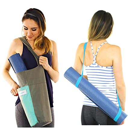 f85afa97cbe Yoga Mat Bag Carrier + Extra Yoga Mat Strap for Carrying Yoga Mat - with 2