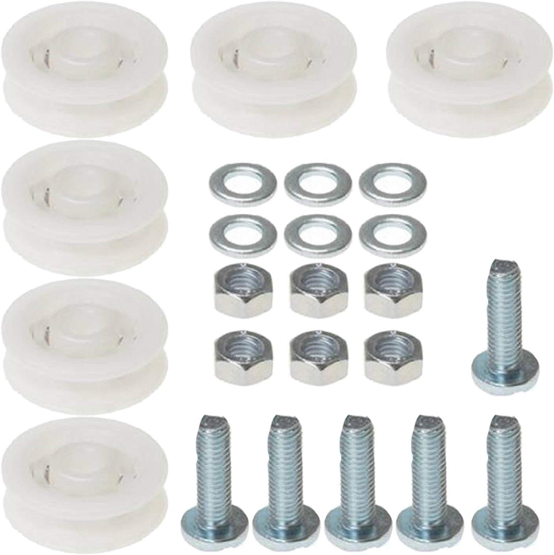 Spares2go - Juego de ruedas para puerta corredera de invernadero (6 ruedas de nailon de 28 mm): Amazon.es: Hogar
