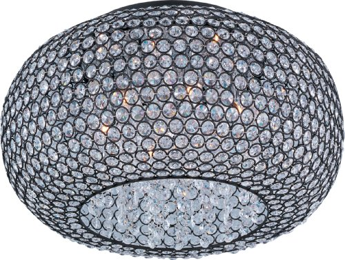 Maxim 39876BCBZ Glimmer 6-Light Flush Mount, Bronze Finish, Beveled Crystal Glass, G9 Xenon Xenon Bulb, 100W Max, Wet Safety Rating, Standard Dimmable, Glass Shade Material, 1150 Rated (Beveled Glass Finish)