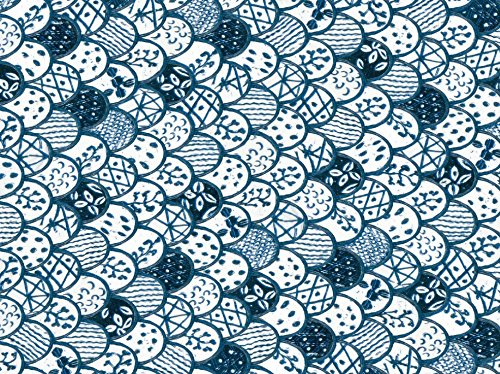 Blue & White Gift Wrapping Papers: 12 Sheets of High-Quality 18 x 24 inch Wrapping Paper