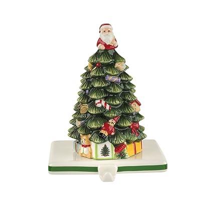 Christmas Tree Stocking Holder.Spode Christmas Tree Stocking Holder Tee