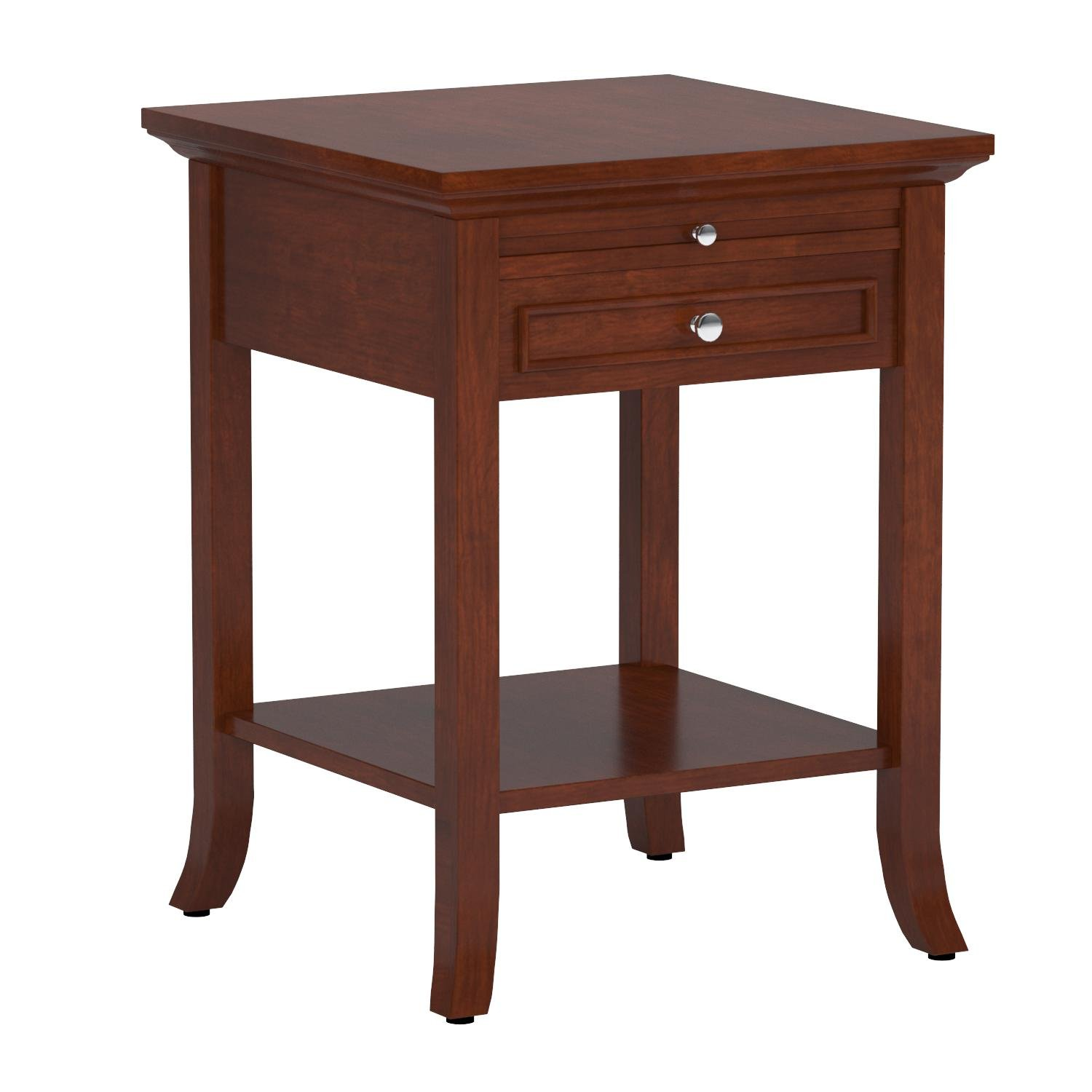Convenience Concepts American Heritage Collection Logan End Table with Drawer and Slide, Mahogany by Convenience Concepts (Image #4)