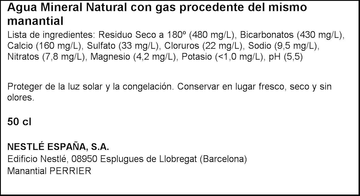 Perrier - Agua mineral, 500 ml (pack de 24 unidades): Amazon.es: Alimentación y bebidas