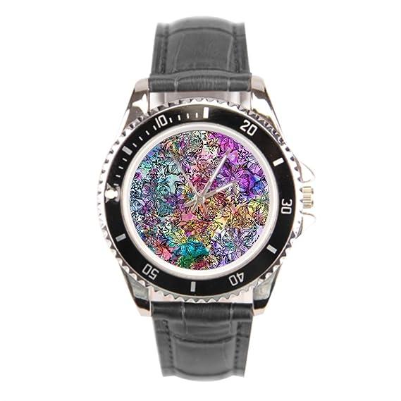 kosmore moderno asequible piel relojes coloridos mejor correa de piel color marrón: Amazon.es: Relojes