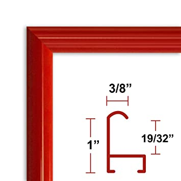 Amazoncom 22 X 28 Poster Frame Profile 15 Red Custom Size