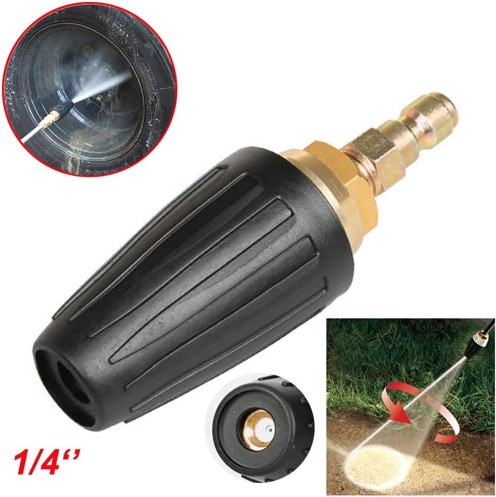 KINJOHI Hochdruckreiniger 3000 PSI Turbo Nozzle Rotating-Rotary 4.0 D/üsen Hochdruck Rotations Turbod/üse Schnellkupplung Stecker Spr/ühd/üse Spiral Wasserstrahld/üse Wirbelnd/üse