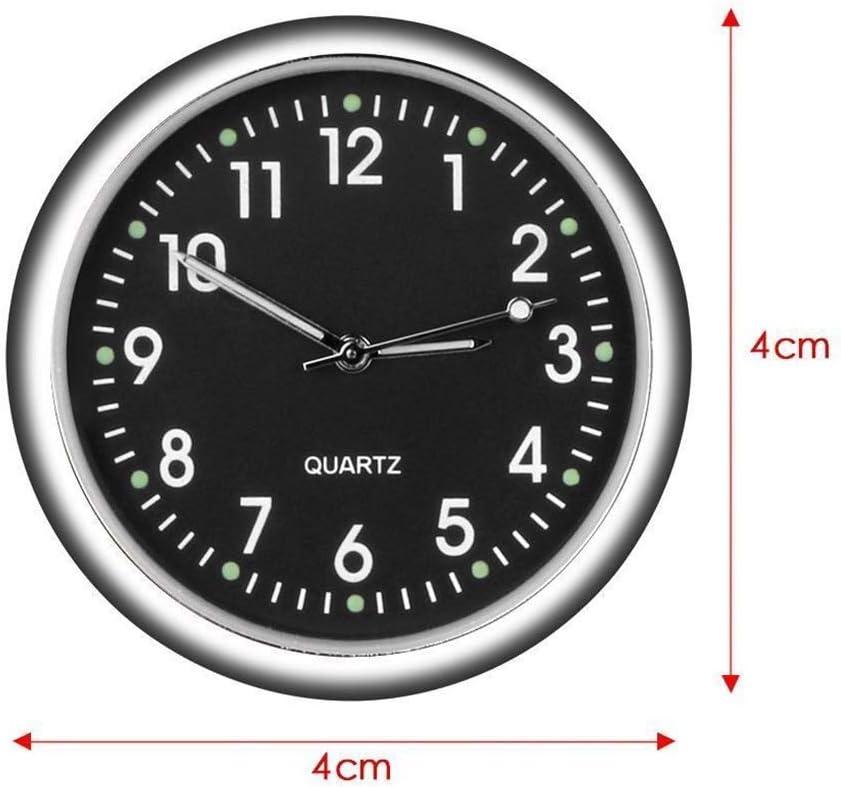 Junecat Automobile Stick-on Digital Montre en m/étal Horloge Ornements de Voiture D/écorations int/érieur Type Lumineux