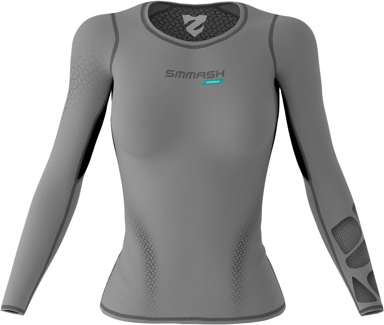 Yoga Funktionsshirt f/ür Crossfit Sport Langarmshirt SMMASH X-WEAR Atacama Damen Langarm Top Compression Shirt Longsleeve Gym Fitness Sportoberteile Laufshirt
