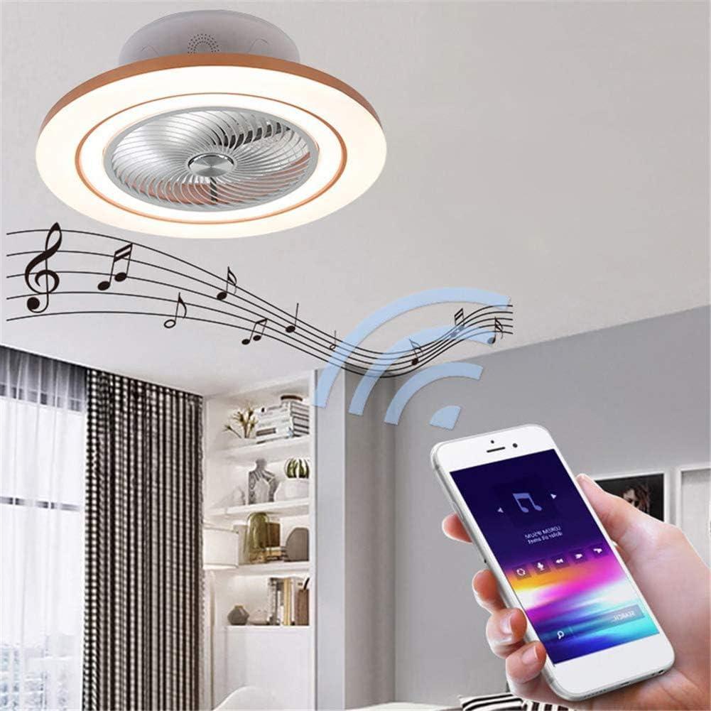 HONGLONG Luz de Techo 96W LED con Control Remoto y MP3 Altavoz Bluetooth Ventilador de Techo Cambio de Color m/úsica Ventiladores de Techo y l/ámpara integrada Regulables