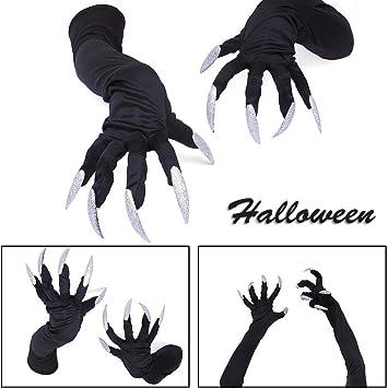 Handschuhe Halloween weiß Nägel Mini Funny Requisiten