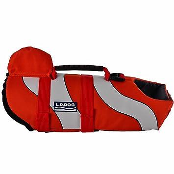URIJK chaleco salvavidas para perro, chaleco salvavidas flotante, animal de compañía, flotador animales