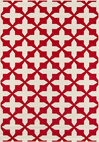 Nolita Rugs Sawford Polypropylene Red Indoor/Outdoor Rug 3'11