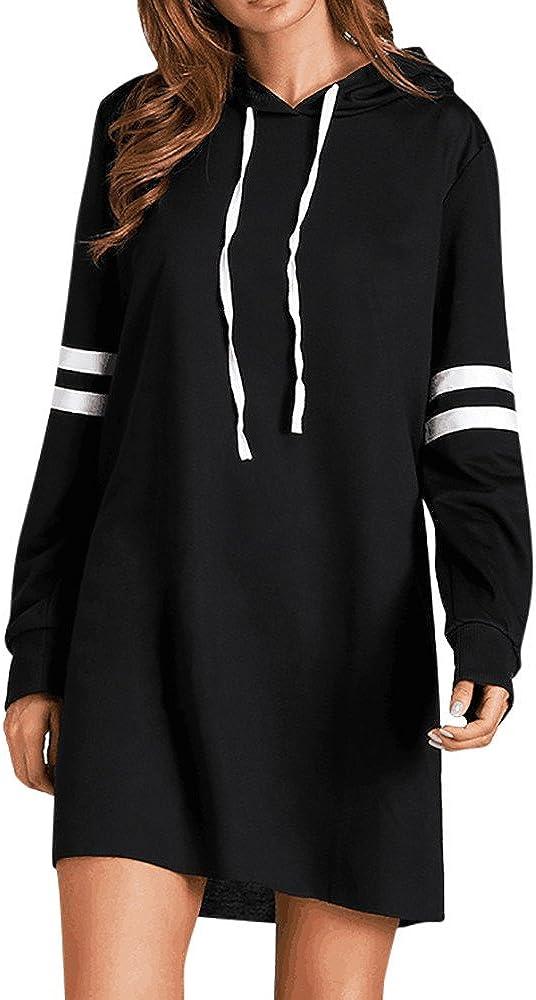Yesmile Mujer CamisetasLas Mujeres Camisa Las Mujeres Forman la Nueva Sudadera con Capucha Larga de la Manga Larga del Jersey del Jersey del Vestido
