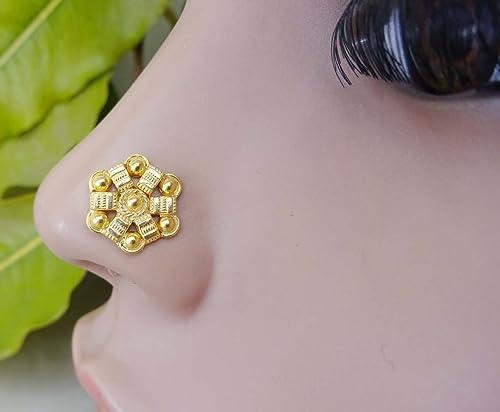 Silver Nose Jewelry Nose Bones Silver Nose Stud Nose Piercing,Mandala Nose Stud Body Jewelry
