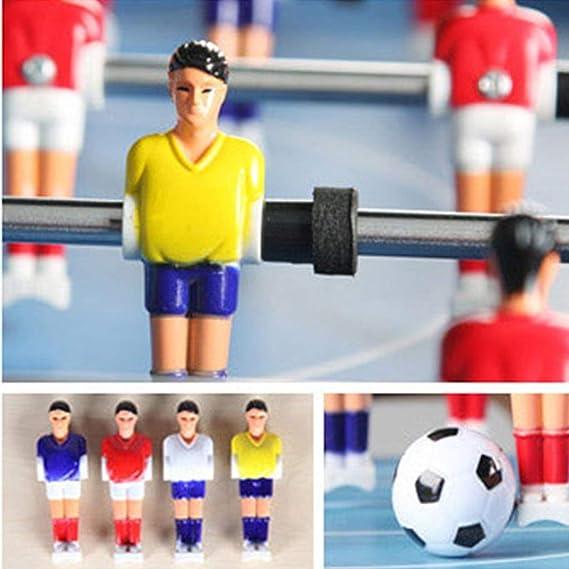 Hh001 Juguete Pequeña Mesa de fútbol Máquina casera de Escritorio Juego de Mesa de fútbol de Seis plazas Juguetes para niños Regalos de cumpleaños 3-10 años Juguetes educativos: Amazon.es: Juguetes y juegos