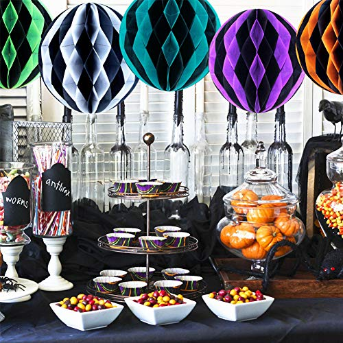 (Colorful Honeycomb Balls for Christmas Birthday Baby Shower Halloween Thanksgiving Party Hanging)