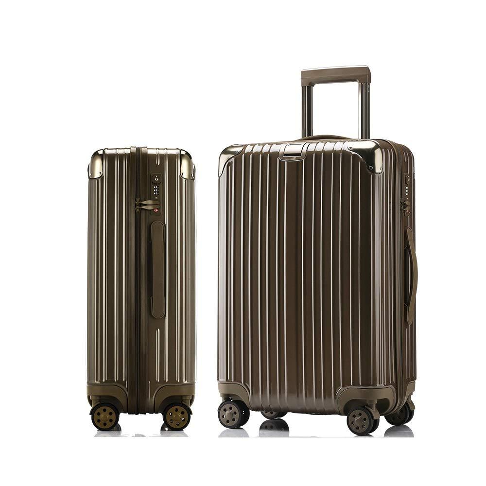 荷物のスーツケースユニバーサルホイールシャーシトロリーケースファッション、54センチ×35センチ×23センチ、ローズゴールド、チタン、シルバー (Color : B, Size : 54cmX35cmX23cm) B07T5DSLV8 B 54cmX35cmX23cm