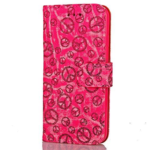 Voguecase® Pour Apple iPhone 7 Plus Coque, Étui en cuir synthétique chic avec fonction support pratique pour Apple iPhone 7 Plus (L'aube de la paix-Rose)de Gratuit stylet l'écran aléatoire universelle