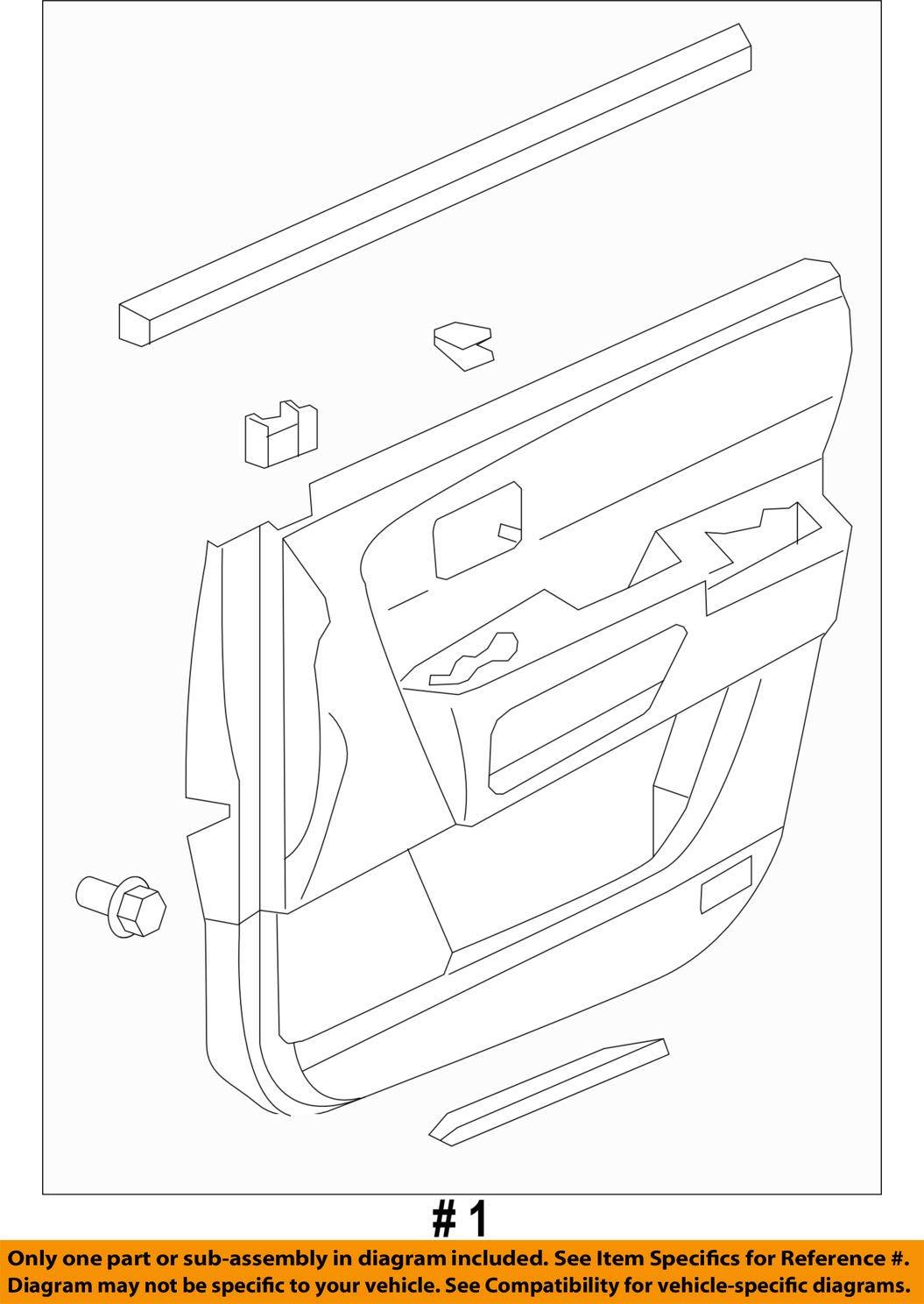 Baltic Blue Genuine Honda 83551-SZA-A03ZA Door Lining Assembly Front Left