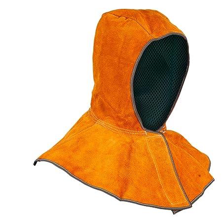 LIOOBO Capucha Protectora Casco para Soldar de Cuero Resistente al Calor Tapa del Cuello Cubierta (Tamaño Libre): Amazon.es: Hogar