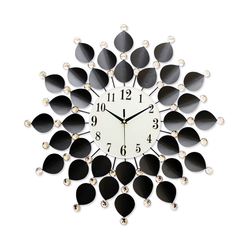 JCRNJSB® ヨーロッパスタイルのモダンウォールクロックアートクロックと時計の飾りクリエイティブウォッチリビングルーム時計をミュートクォーツ時計67x67cm 壁掛けサスペンション クロックウォールクロック クォーツ時計 B07CVSBSYJ